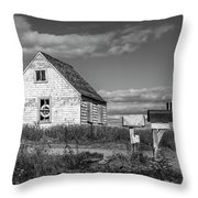 Two Sheds In Blue Rocks #01 Throw Pillow