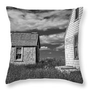 Two Sheds In Blue Rocks #2 Throw Pillow