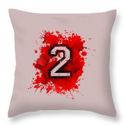 Twoo Over Red Stain Throw Pillow