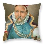 Tycho Brahe Illustration Throw Pillow