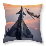 Typhoon And Spitfire Synchro-pair Display Team Throw Pillow