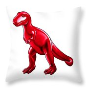 Tyrannosaurus Cartoon Throw Pillow