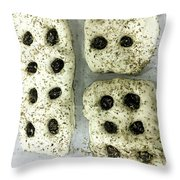 Uncooked Fresh Focaccia Throw Pillow
