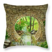 Under The Brisge Throw Pillow
