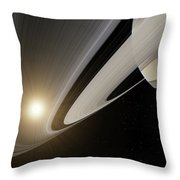 Under The Rings Of Saturn Throw Pillow