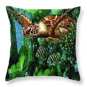 Underwater Mardi Gras Throw Pillow