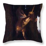 Unicorn 1885 Throw Pillow