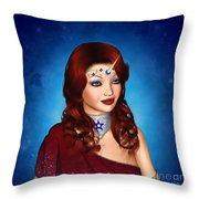 Unicorn Princess Adoria Throw Pillow