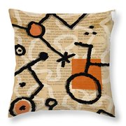 Unicycle Throw Pillow by Mark Shoolery