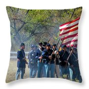 Union Infantry Advance Throw Pillow