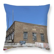Union Market Washington Dc Wholesale Butcher Shop Throw Pillow