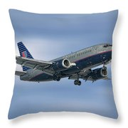 United Airlines Boeing 737-522 Throw Pillow