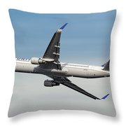 United Airlines Boeing 767-322 Throw Pillow
