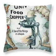 Universal Food Chopper No. 2  1899 Throw Pillow