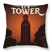 University Of Texas Tower Throw Pillow