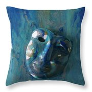 Shades Of Blue Sold Throw Pillow
