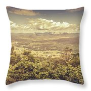 Up Above The Land Down Under Throw Pillow