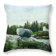 Upon This Rock Throw Pillow
