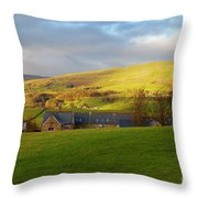 Upper Wensleydale And Lovely Seat From Hawes In Yorkshire Dales Throw Pillow