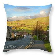 Upper Wensleydale From Hawes Yorkshire Dales National Park Throw Pillow
