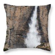 Upper Yosemite Fall Throw Pillow