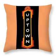 Uptown Signage 4 Throw Pillow