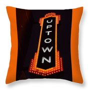 Uptown Signage 5 Throw Pillow