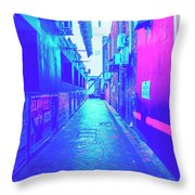 Urban Neon Throw Pillow