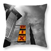 Urban Night Colorized  Throw Pillow