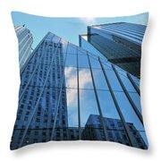 Urban Skies Throw Pillow
