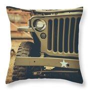 Us Army Jeep World War II Throw Pillow