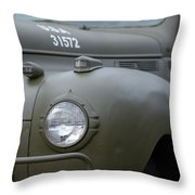 Us Army Staff Car World War II Throw Pillow