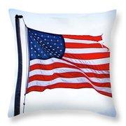 U.s. Flag 5 Throw Pillow