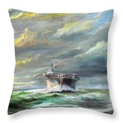 Uss Enterprise Returns To Pearl Throw Pillow