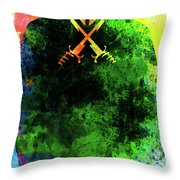 V For Vendetta Watercolor II Throw Pillow