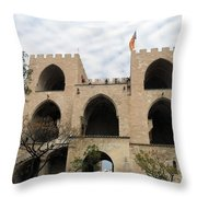 Valencia Fort Building Throw Pillow