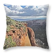 Valley Colorado National Monument Sky Clouds 2892 Throw Pillow