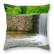 Valley Creek Waterfall Panorama Throw Pillow