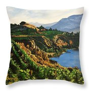 Valley Vineyard Throw Pillow by Sharon Duguay