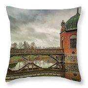 Vallo Castle Wooden Moat Bridge Throw Pillow