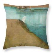 Valparaiso Harbor - Digital Remastered Edition Throw Pillow