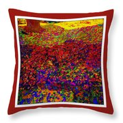 Van Gogh Visits My Back Yard Throw Pillow