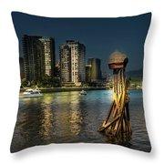 Vancouver Sunset Throw Pillow by Juan Contreras
