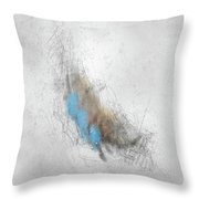 Vanilla Pelt Throw Pillow by Rick Baldwin