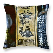 Vapo-cresolene Vaporizer Liquid Poison Original Packaging Throw Pillow