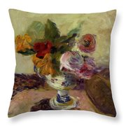 Vase Of Flowers 1886 Throw Pillow
