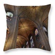 Vaults Of Notre Dame De Paris Before The Fire Of 2019 Throw Pillow