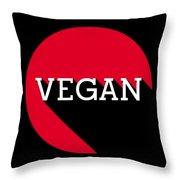 Vegan Statement Logo  Throw Pillow
