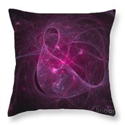 Veiled Pink Throw Pillow