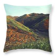 Velvet Hills Throw Pillow